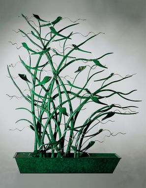 Custom Made Swaying Grasses Fountain