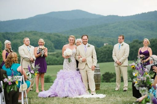 Custom Made Lavender Lilac Wedding Dress