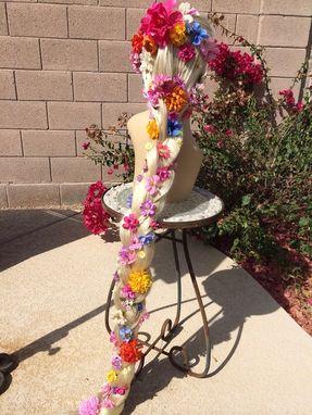 Hand Made Rapunzel Tangled Braided Long Blonde Flower
