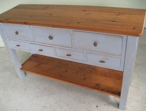 Custom Made 5 Foot Pine Sideboard Console Table