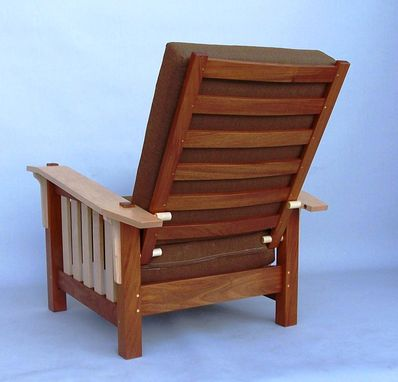 Custom Made Mahogany And Maple Morris Chair