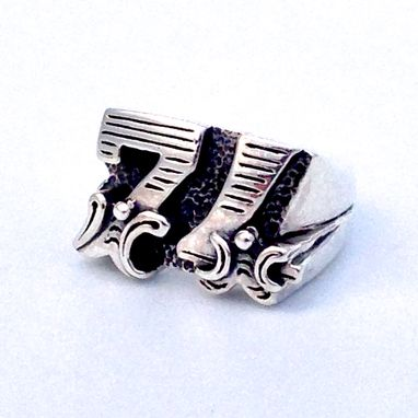 Custom Made Sterling Silver, Mens Ring, Silver Special Occasion Ring