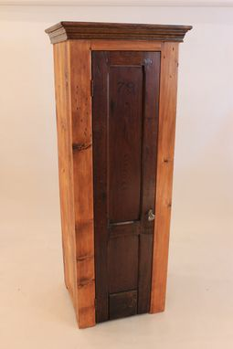 Custom Made #Cb-21 Antique Firehouse Locker Door Cabinet With 5 Shelves