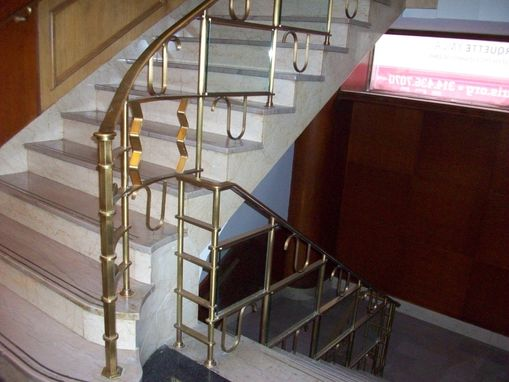 Custom Made Renovated Bronze Railing With Glass Infill Panels