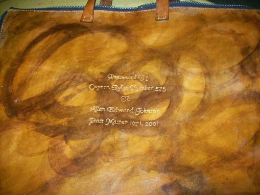 Custom Made Custom Leather Mason Apron Case Presentation Insription