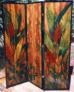Custom Made Room Divider  3 Panel,  Koa Wood
