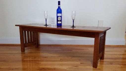 Custom Made Solid Oak Mission Style Coffee Table