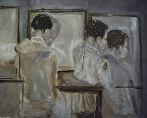 "Custom Made ""Repetition"" Figurative Oil Painting"