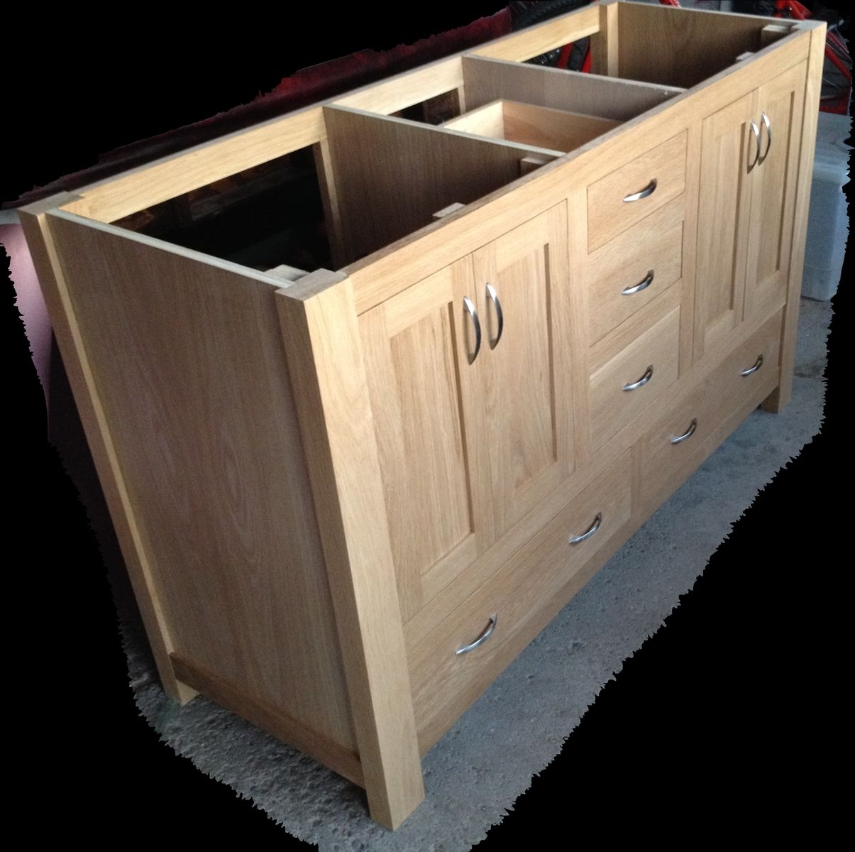 custom teri 39 s bathroom vanity by custom furnishings workshop. Black Bedroom Furniture Sets. Home Design Ideas