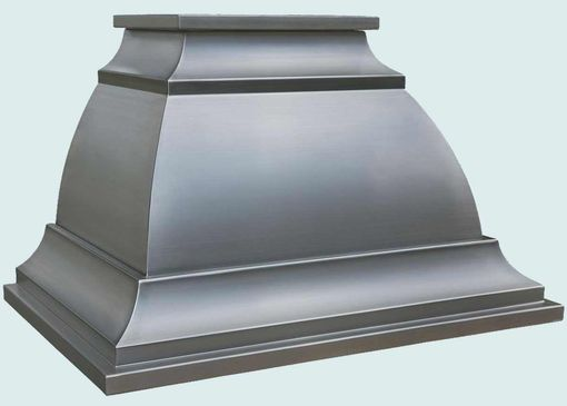 Custom Made Stainless Range Hood With Inverted Scroll Band