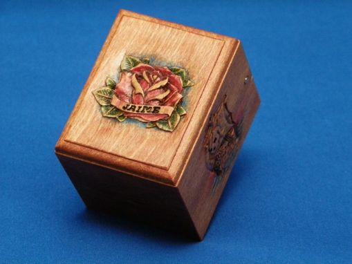 Custom Made Carved Engagement Ring Box