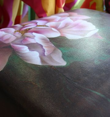Custom Made Hand Painted Ottomans