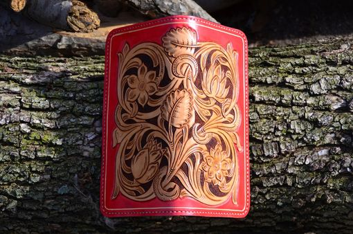 Custom Made Hand Carved Leather Wallet