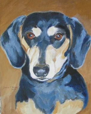 Custom Made Nina--Custom Dog Pet Portrait