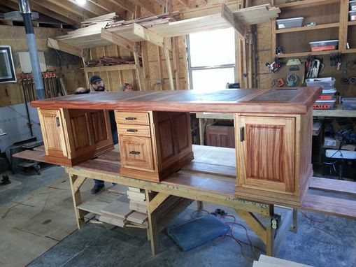 Custom Made African Mahogany Desk