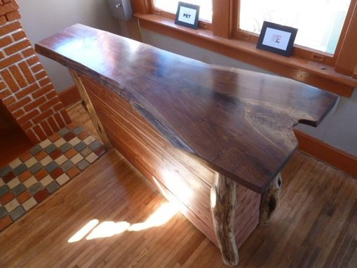 Custom Made Walnut Slab Bar Tops, Counters