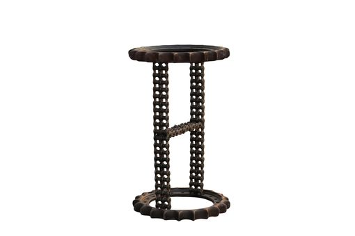 Custom Made Sculptural Furniture Metal Base Bar Table