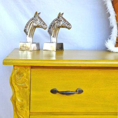 Custom Made Canary Yellow Eastlake Dresser