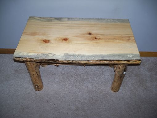 Log End Table And Coffee Table