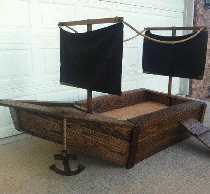 Custom Made Pirate Ship Toddlers Bed