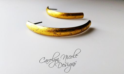 Custom Made Gold Keum Boo Curve Earrings