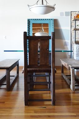 Custom Made Industrial Rustic Table Bench And Chairs Dining Set