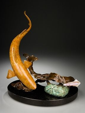 Custom Made Shark Fish Bronze Sculpture