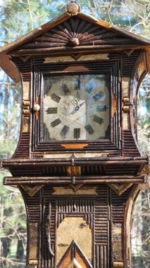 Custom Made Rustic Grandmother Clock