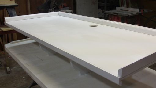 Custom Made Custom Tv Shelves Painted White Lacquer