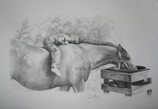 Custom Made Charcoal Drawing
