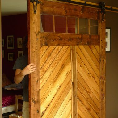 Custom Made Interior Sliding Door, Reclaimed Wood C.1890'S