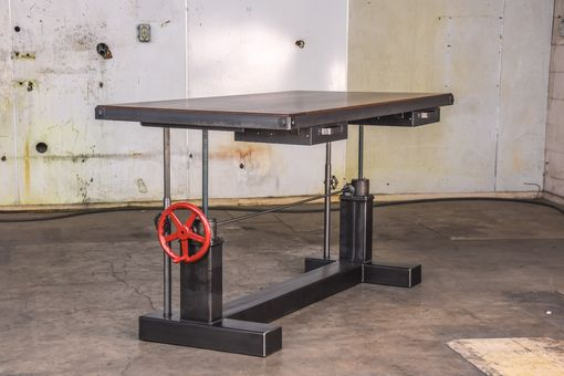 Custom Made Sit Stand Crank Desk