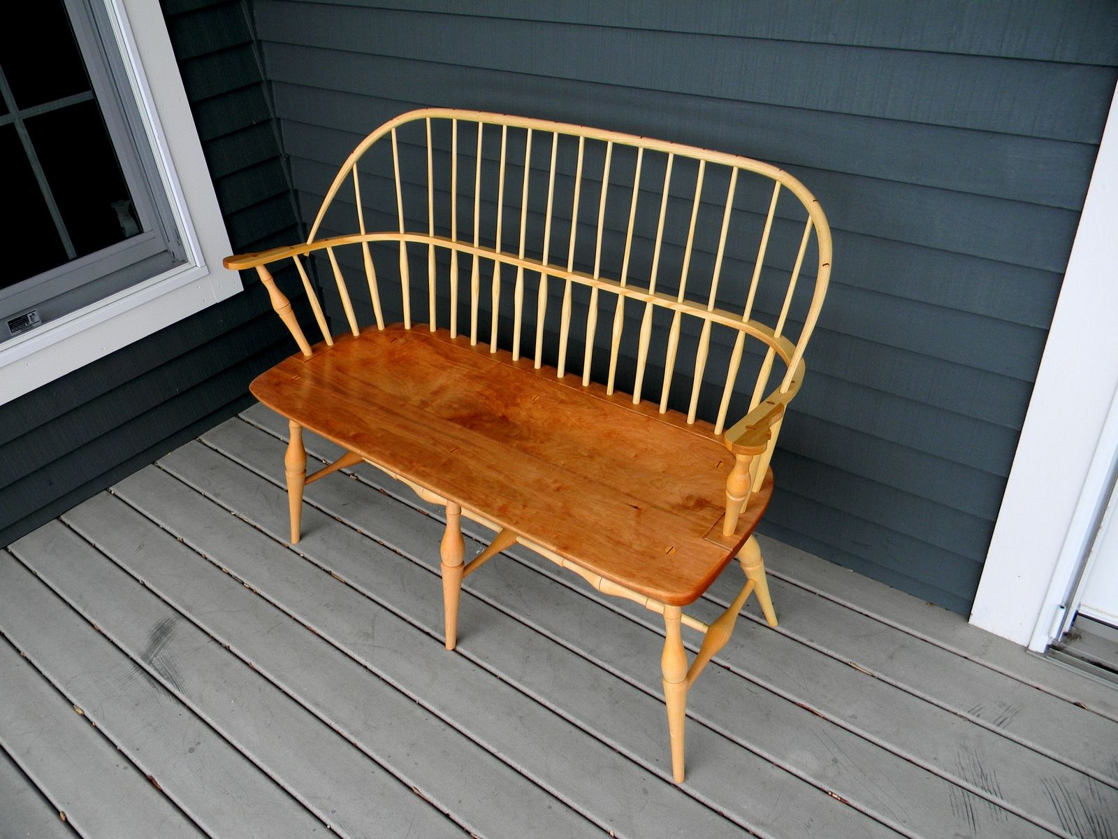 Handmade Cherry And White Ash Bench Settee By T Kelly