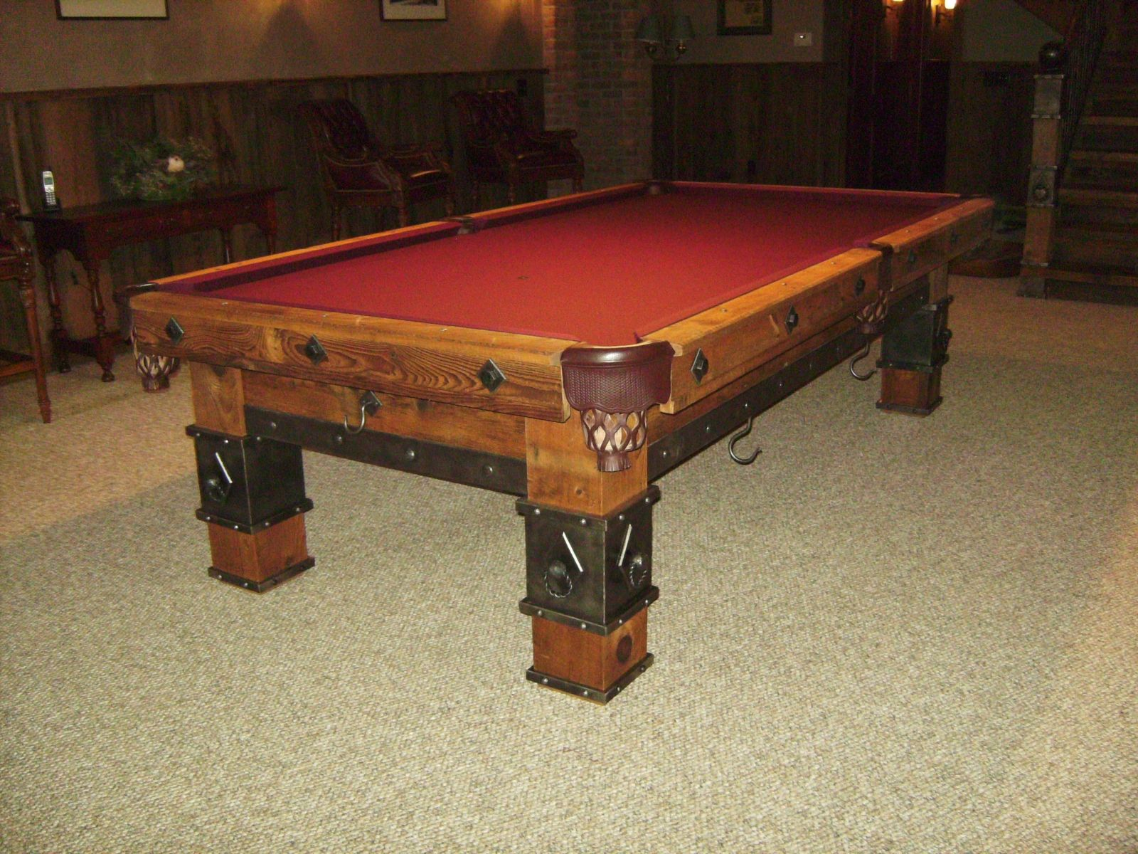 custom made pool table by braddee metal works design. Black Bedroom Furniture Sets. Home Design Ideas