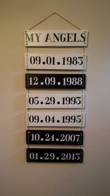 Custom Made Hanging Date Sign