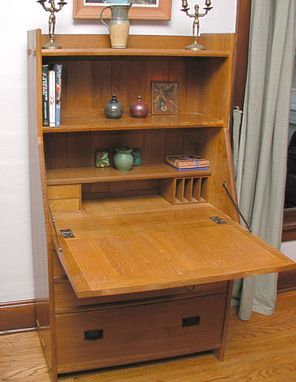 Custom Made Arts & Crafts Fall Front Secretary/Desk