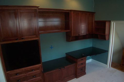 Custom Made Home Office And Entertainment Center
