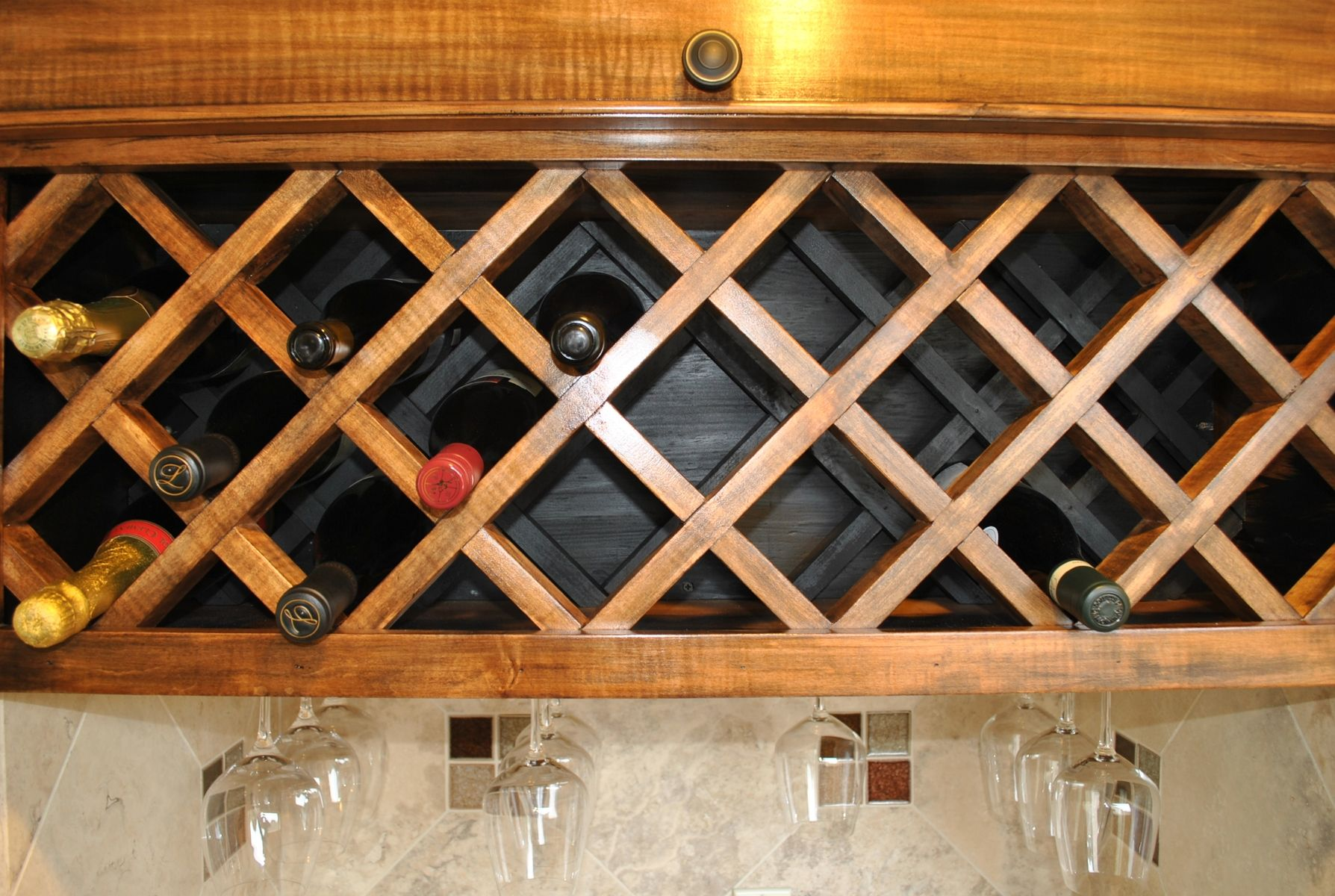 how to make a wine rack in a kitchen cabinet crafted custom wine rack by noble brothers custom 17102