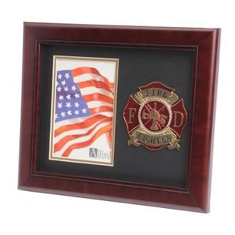 Custom Made Firefighter Medallion Portrait Picture Frame
