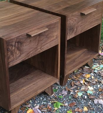 Custom Made Walnut End Table / Night Stand