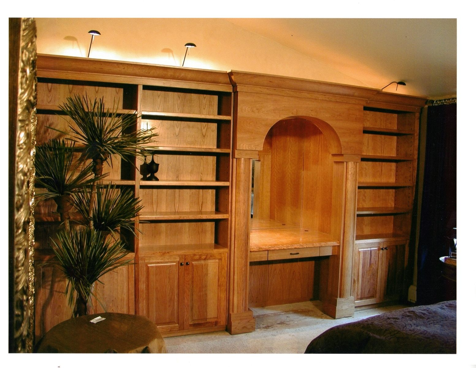Hand crafted bedroom wall cabinets by parker custom - Custom made cabinet ...