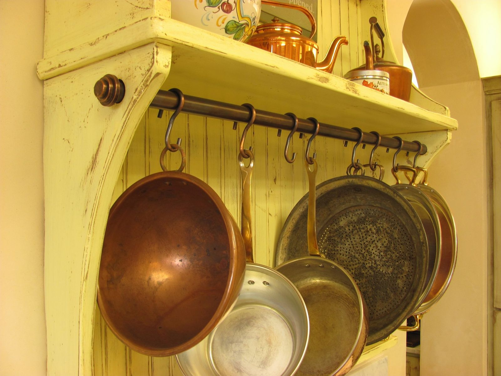 Custom Made Copper Pot Rack Hooks
