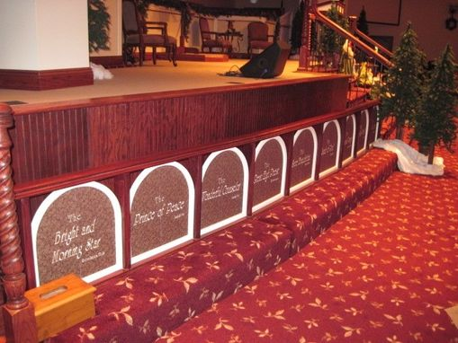 Custom Made Church Pulpit And Alter Rails