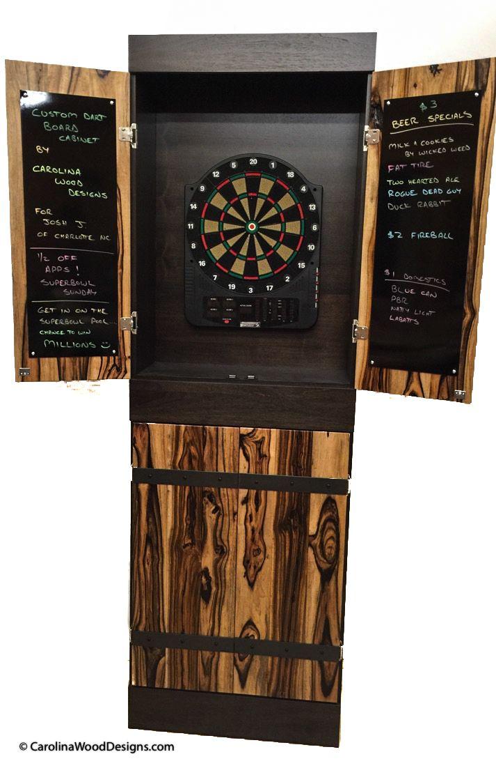 Handmade Custom Dartboard Cabinet By Carolina Wood Designs