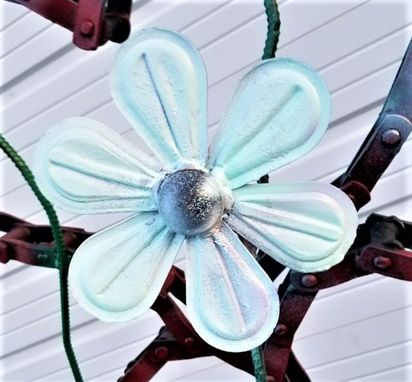 Custom Made Metal Flower Art