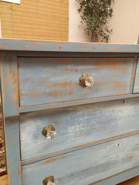 Custom Made Painted Blue Dresser