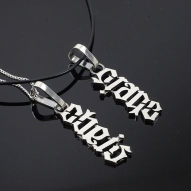 Custom Made Ambigram Necklaces