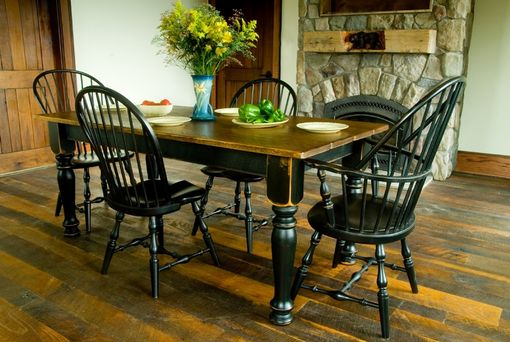 Buy Hand Made Pine Farmhouse Dining Table & Six Chairs ...