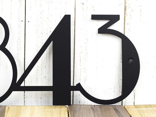 Buy Custom Modern House Numbers | Modern Address | Art Deco | Metal ...