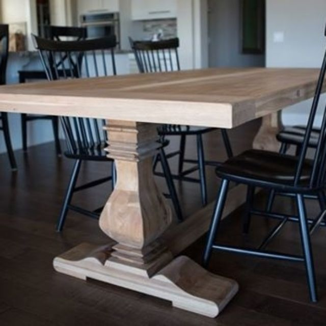 Kitchen Tables And Chairs Melbourne Custom pecan trestle dining table by santini custom furniture custom pecan trestle dining table by santini custom furniture custommade workwithnaturefo
